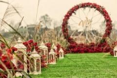 Cérémonie laïque Romantique rouge