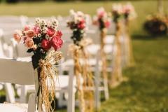 Cérémonie laïque champetre rose