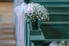 ceremonie romantique rose pâle et blanc