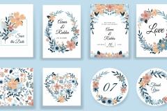 Papeterie mariage champetre bleu