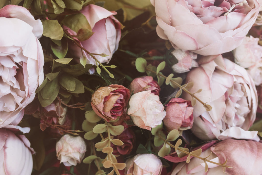 pivoine rose mariage chameptre