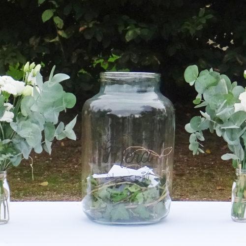 Urne en verre (personnalisation possible)