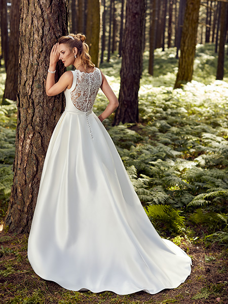 robe versailles point mariage dos