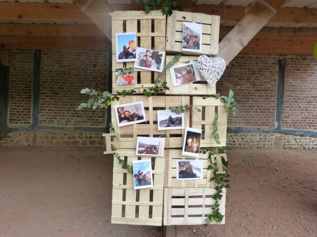 cadre photo cagette mariage champetre