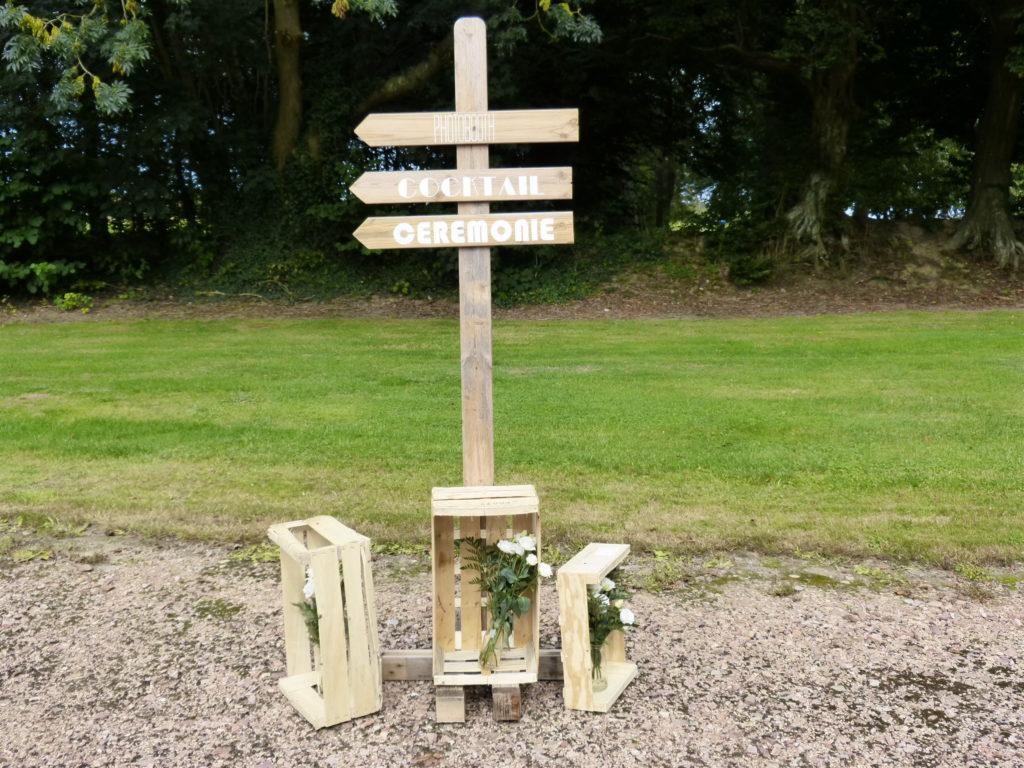signalétique mariage champetre en normandie