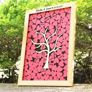 livre d'or cœur en bois