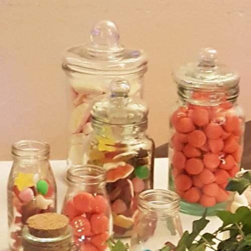 Bocaux pour candy bar