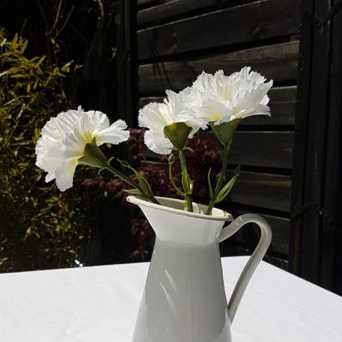 Vase pichet métal écru